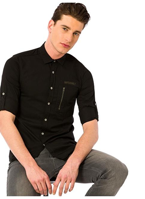 LC Waikiki Uzun Kollu Gömlek Siyah